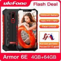 Ulefone Armor 6E IP68 impermeable NFC robusto teléfono móvil Helio P70 otca-core Android 9,0 4GB + 64GB carga inalámbrica Smartphone