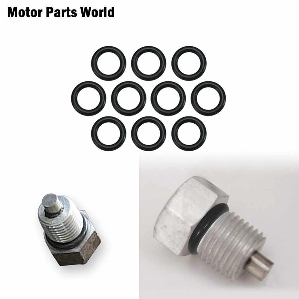 אופנוע 10pcs איטום טבעת מנוע שידור Twin Cam שמן ניקוז תקע 11105 O-טבעת להארלי סיור Dyna softail Sportster
