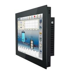 Ordenador industrial de 21,5 pulgadas todo en uno pantalla táctil de resistencia i3 i5 Wifi incorporado Win7 XP Linux sistema hebillas de montaje