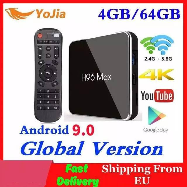4GB RAM 64GB Rom אנדרואיד 9.0 טלוויזיה תיבת H96 מקס X2 Amlogic חכם 4K Media Player 2.4G & 5G Wifi H96MAX ממיר 2G16G