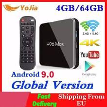 4gb ram 64gb rom android 9.0 caixa de tv h96 max x2 amlogic smart 4k media player 2.4g & 5g wifi h96max conjunto caixa superior 2g16g