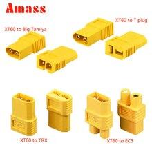 AMASS XT60 XT 60 XT-60 штекер T DEAN разъем EC3 TRX Большой Tamiya штекер Женский конвертер адаптер для RC Lipo батареи