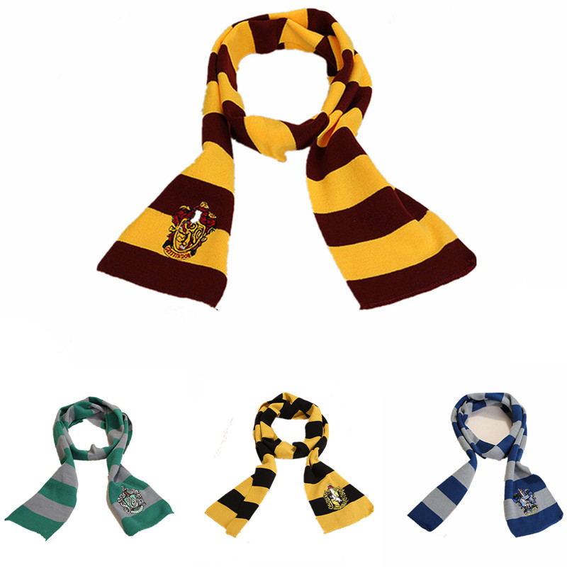 Christmas Adult And Child Scarf Tie Gryffindor / Slytherin / Hufflepuff / Crow Claw Hat Socks Gloves Cosplay Costume