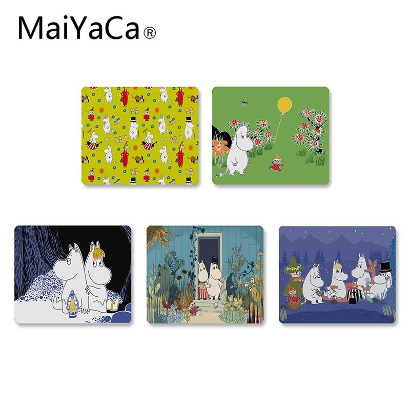 MaiYaCa New Design Hippo Moomin Cute Animal Unique Desktop Pad Game Mousepad Rubber PC Computer Mousepad For PC Laptop Notebook