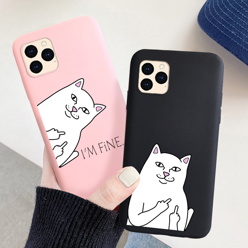 For iPhone 11 Pro Max Case Cute Candy Silicone Phone Cover For iPhone XR X XS Max SE 2020 12 7 8 6 6s Plus 5 5s Color Soft Cases