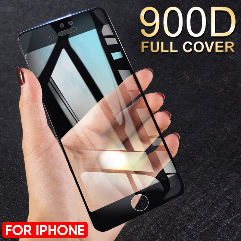 900D Full Cover Tempered Glass For IPhone 11 Pro Max Glass X XS Max XR 7 Screen Protector Glass On For IPhone 7 6 6S 8 Plus Film