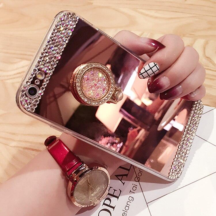 Luxury Diamond Case For Xiaomi Redmi Note 8 7 5 Pro S2 6 6A Mi 9 Lite Mix 2s 8SE A1 5X A2 Rhinestone Glitter Soft TPU Mirror