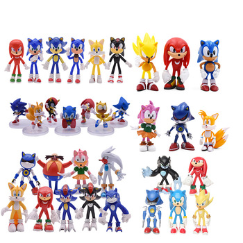 5 Styles Anime Sonic Figure Toy PVC Action Figure Collection Model Doll Toy Christmas Gift For Children 6pcs set monster figures toy super doll pvc anime action figure model toys doll for kids christmas gift