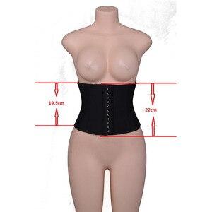 Image 5 - Women Slim Waist Trainer Latex Underbust Corset Slimming Corset 9 Steel Boned Short Back Support Waist Belt Cincher