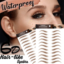 Eyebrow-Sticker Eye-Makeup-Tools Bionic-Tattoo Water-Transfer Embroidery Semi-Permanent