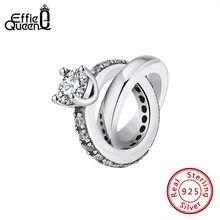 Женское кольцо из серебра 100% пробы с бусинами