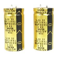 2 قطعة جديد تايلاند ELNA FOR AUDIO (لاو) 5600 فائق التوهج/50 V 22x45 مللي متر 50V5600UF 50V 5600 فائق التوهج الذهبي الصوت 5600u50v LAO 50V562MS26P