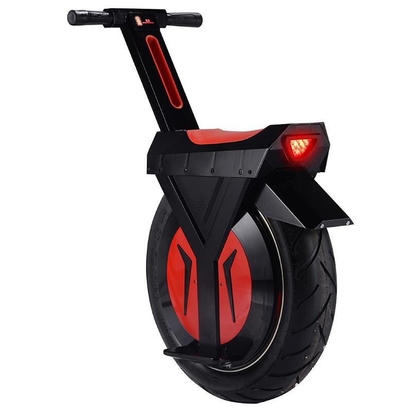 17 Inch Big Tires Electric Unicycle Monowheel 500W 60V One Wheel Balance Scooters For Adults With Two Batteries