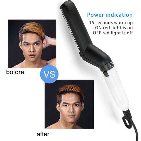 Multifunctional Hair Comb Brush Beard Straightener Hair Straighten Straightening Comb Hair Curler Quick Hair Styler For Men Karachi