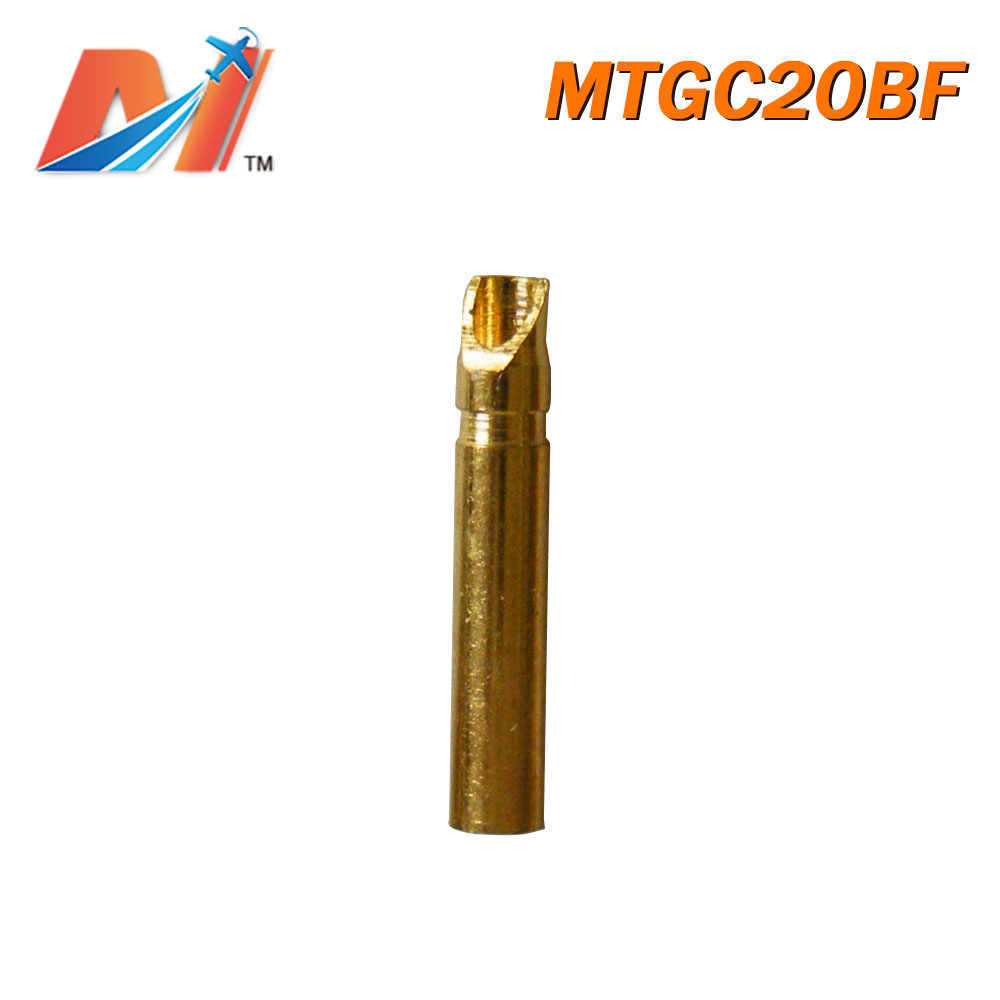 Maytech Clearance (1 Pc) Dijual 2 Mm Golden CONNECTOR Oblique Jenis Wanita