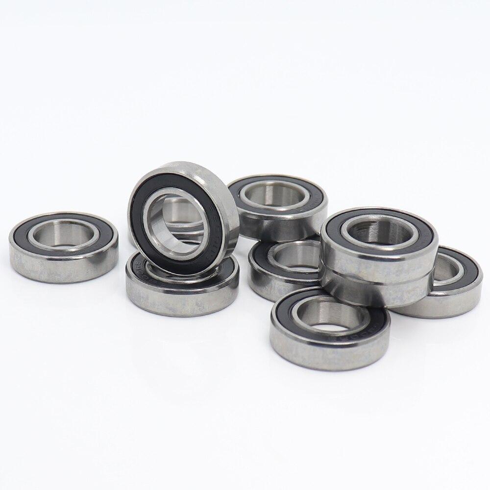 10 Pcs 10x19x5 mm Rubber Sealed Ball Bearings Bearing 6800RS ORANGE 6800-2RS