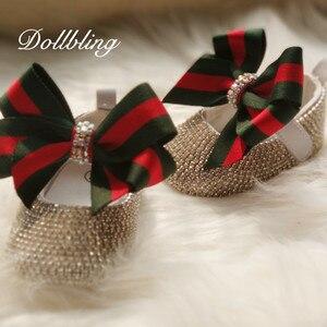 Image 2 - ブランドに触発幼児記念品クリスタルpersonlized手作りベビー王女の靴すべてカバークリスタル誕生日ギフトブリンブリンの靴