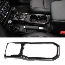 Gear-Shift-Panel-Cover Car-Accessories Carbon-Fiber Jeep Wrangler Interior-Trim for JL