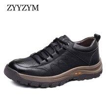 ZYYZYM – chaussures en croûte de cuir épais pour homme, chaussures décontractées, résistantes à l'usure, Style britannique, pour l'extérieur, nouvelle collection printemps-automne