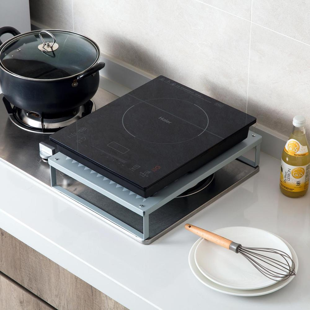 Iron Kitchen Shelf Storage Rack Induction Cooker Holder Shelf Support Microwave Oven Holder Cocina Organizer Kitchen Tools