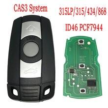 Chave de controle remoto do carro do mundo de datong para bmw cas 3 sistema 1 3 5 série id46 pcf7944 chip 315/434/868 mhz chave de cartão inteligente automático