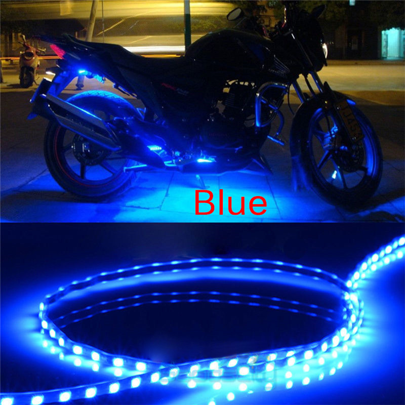 6PCS Waterproof DC 12V Motor LED Strip SMD Underbody Decorative Strip Light For Car Motorcycle Beautiful Decorative Soft Lights