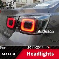 Lâmpada de cauda para o carro chevrolet malibu 2011-2014 malibu led luzes traseiras nevoeiro dia running luz drl tuning carros acessórios