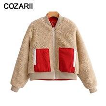 wo side wear women winter fleece teddy coats 2019 fashion ladies warm coat female red lambswool short anorak jacket girls chic
