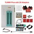 100% Original nouveau V9.0 TL866II Plus programmeur Minipro universel + 28 adaptateurs + pince de Test TL866 PIC Bios programmeur haute vitesse|Calculatrices| |  -
