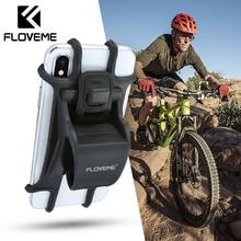 Soporte de teléfono para bicicleta FLOVEME, soporte de teléfono para motocicleta, bicicleta, bicicleta, manillar, soporte de montaje para teléfono móvil, soporte para iPhone X Xiaomi Universal