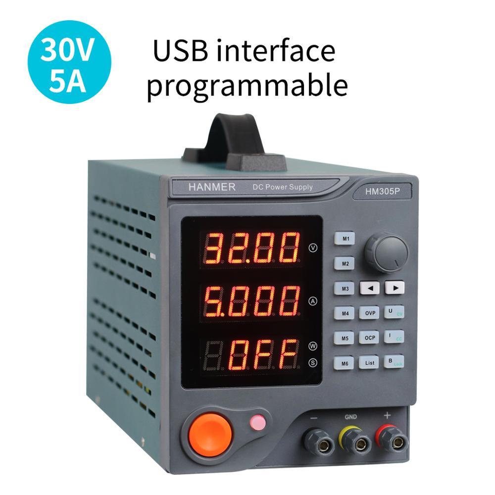 Alimentation cc Programmable (0-30 V 0-5 A) alimentation à régulation linéaire Variable numérique avec logiciel PC et Interface USB