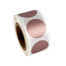 50-300pcs adesivi antigraffio rotondi in oro rosa etichette antigraffio da 1 pollice per nastro per etichette manuale fai-da-te striscia graffiato fatta a mano
