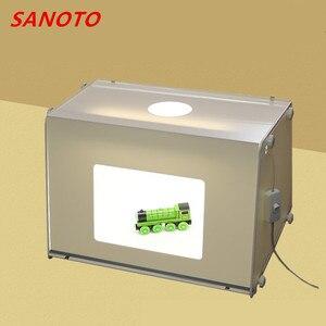 Sanoto caixa de iluminação portátil para fotografia, mini conjunto de iluminação para fotografia, estúdio de fotografia, caixa softbox dobrável, kit de tenda para tiro