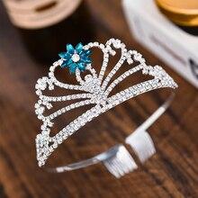 купить Wedding Tiara Children's Crown Girl Decoration for Hair Diadem Girls Bridal Crown Accessories Princess Headband Jewelry по цене 246.85 рублей