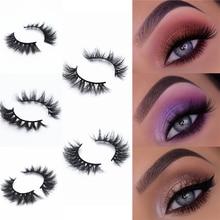 New Arrival handmade  Natural 3D Mink 100% Cruel Eyelashes for small eyes Cruelty Soft Dramatic False Reusable Eye lashes Makeup