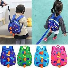 Dinossauro bonito segurança do bebê arnês mochila criança anti-perdido saco crianças confortável schoolbag criança anti perdido pulso link