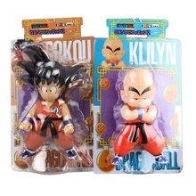 Figuras de acción de Dragon Ball para niños, modelo de juguete para regalo de colección de escritorio, adornos de Dragon Ball, Goku Q, caja de coche de 19-22CM