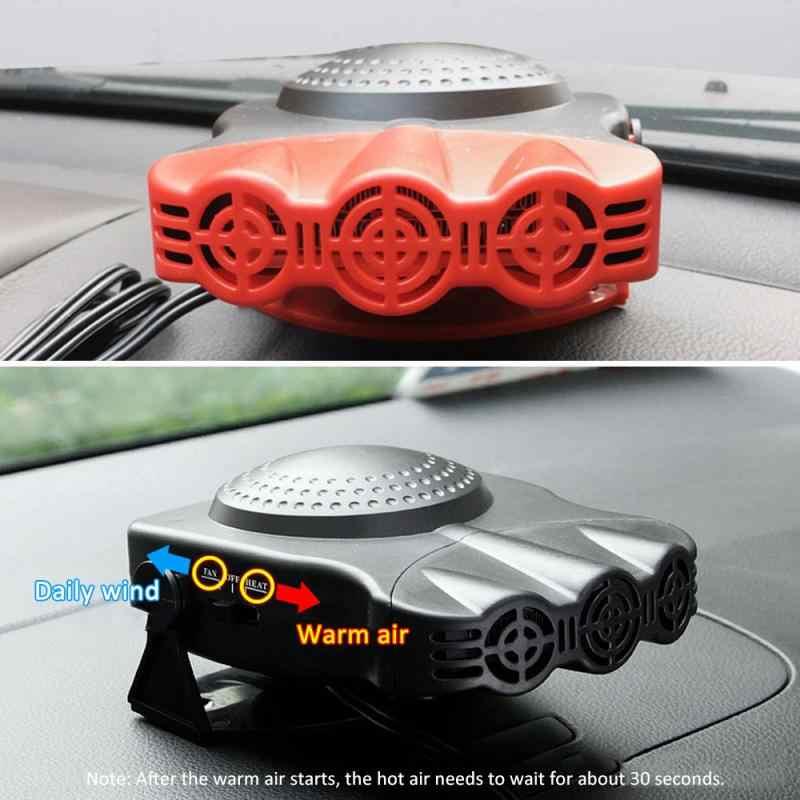 Auto Heizung 2In112V 150W Tragbare Heizung Fan Windschutz Demister Defroster Fahrzeug Lkw Heizung Auto Innen Elektrische Heizung