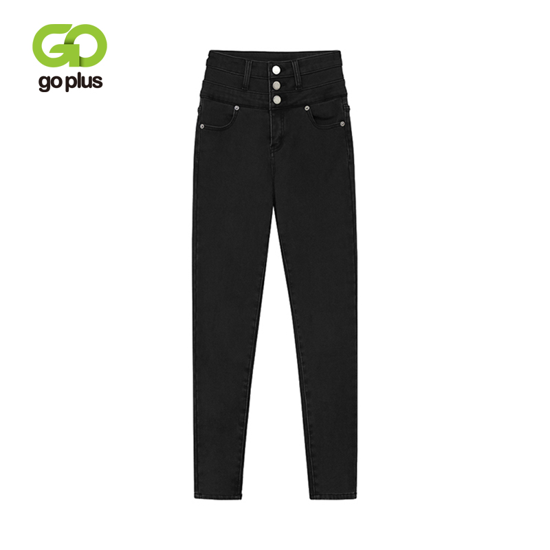 GOPLUS Autumn And Winter Elastic High Waist Skinny Jeans Woman Korean Slim Jeans Femme Ankle Length Denim Pencil Pants C6950