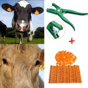 Плоскогубцы для ушей животных + запасной комплект штырей, 100 цифр, пластиковая ферма, скот, корова, овца, ID, этикетка, аппликатор, товары для жи...