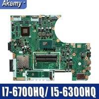 تبادل كمبيوتر محمول اللوحة الأم ل ASUS N752VX N752V N752VW I7-6700HQ/I5-6300HQ اللوحة