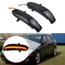 Rearview Side Mirror Turn Signal LED Light For Mercedes Benz C Class W203 S203 CL203 Dynamic Indicator Blinker 2000 2007