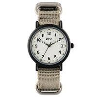 Analog kuvars aydınlık izle naylon kayış Wristswatch erkekler için spor tarzı rahat Unisex saatler japonya hareketi|Kuvars Saatler|   -
