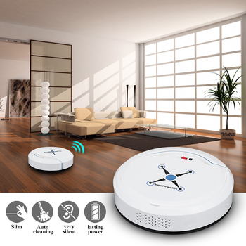 Black/White USB Automatic Vacuum Cleaner Robot for Home Office Dry and Wet Mopping Smart Sweeper Smart Floor Cleaning Robot 1