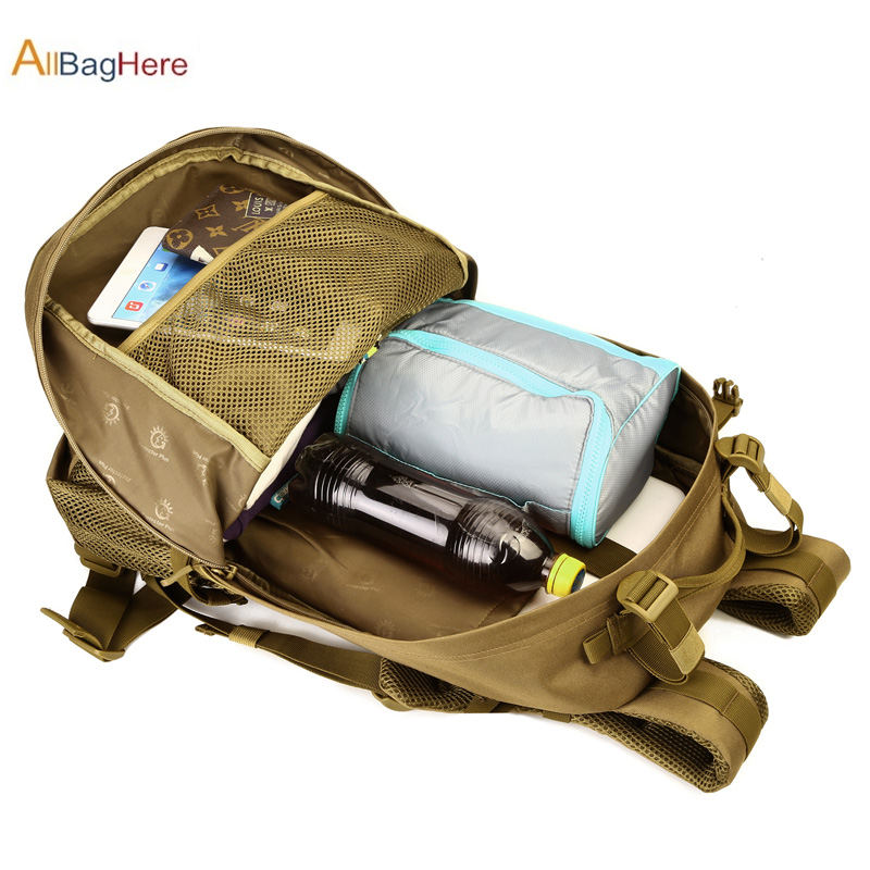 Military Molle Backpack CF Game Mountaineer Backpacks Outdoor Sport Travel 40L Large Capacity Camping Hiking Fishing Hunting Bag