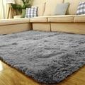 Серый искусственный мех Пушистый Ковер плюшевые мягкие ковры для гостиной спальни коврики Противоскользящие коврики для спальни впитываю...