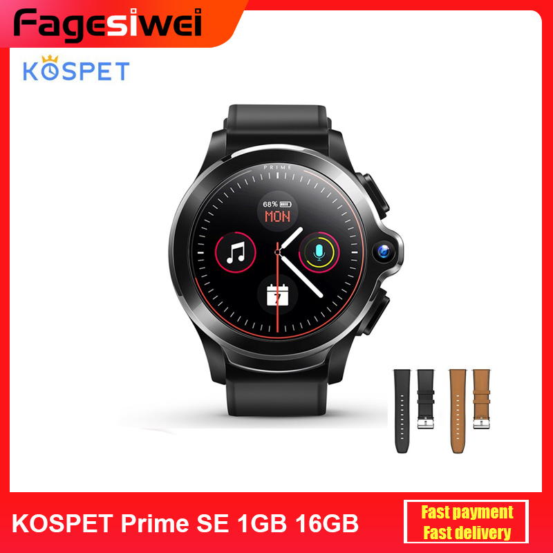 KOSPET Prime SE 4G Smart Watch Phone 1.6 inch Screen Dual Camera Face ID 1260mAh Battery 1G 16G Android Smartwatch