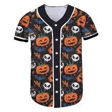 Ogkb horror Хэллоуин Аниме 3d печать бейсбольные рубашки голова