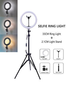 Ring-Light Tripod Stand Cell-Phone-Studio Dimmable Led Selfie Photography with Big