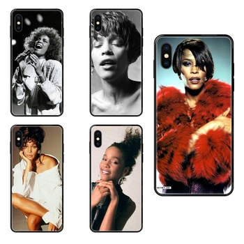 Sexy Singer Whitney Houston Black Soft TPU Cases Capa Cover For Galaxy S5 S6 S7 S8 S9 S10 S10e S20 edge Lite Plus Ultra Vente image